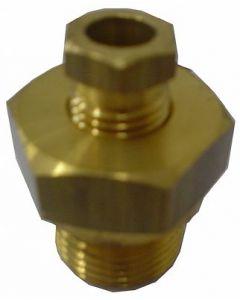"""Conexão deslizante para termômetro bimetal mod. T-08406.0003 de ½"""" G – 8mm em aço inox"""