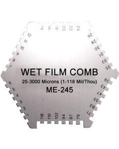 Medidor de Espessura de Camada Úmida Tipo Pente faixa 25 ~ 3000 Microns Mod. ME-245
