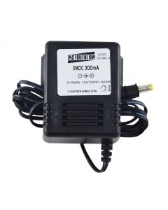 Adaptador mod. AC-100 AC/DC 9V 300mA, compatível com diversos equipamentos mod. DD-005 / DD-020 / DD-100 / DD-200 / DD-300 / MO-900 / PH-1900