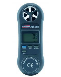 Anemômetro mod.AD-250 digital portátil, faixa de medição de 0,4 a 30 m/s