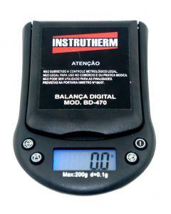 Balança mod. BD-470 digital de bolso capacidade de 200g com divisão de 0,1g