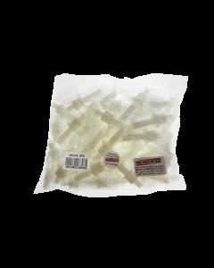 Bocais descartáveis para etilômetros mod. BFD-30/40/60/100 com proteção contra retorno de ar e proteção de barramento de líquidos, pacote com 50 peças
