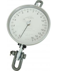 Dinamômetro circular mod. BR-1500 analógico, faixa 0 a 1500 kgf