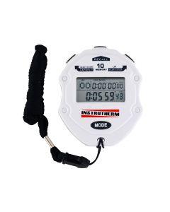 Cronômetro digital com 99 LAP e SPLIT, 10 memórias, relógio, calendário, alarme, temporizador, contador manual progressivo e regressivo modelo CD-3000
