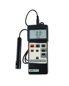 CONDUTIVÍMETRO (MEDIDOR DE EC) MOD. CDR-870 DIGITAL PORTÁTIL, FAIXA DE 0 A 20MS COM INTERFACE RS-232
