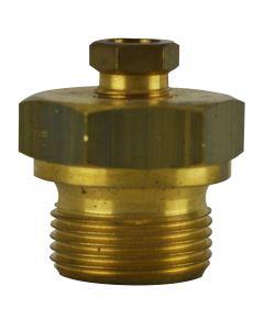 """Conexão deslizante para termômetro bimetal mod. T-08406.001 de ½"""" G – 8mm em latão"""