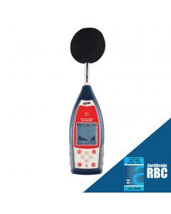 Sonômetro modelo DEC-6000 com filtro de banda de oitava 1/1 classe 2 conforme IEC 61672