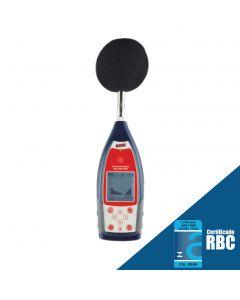 Sonômetro modelo DEC-7000 com filtro de banda de oitava 1/1 classe 1 conforme IEC 61672