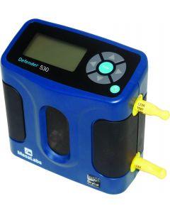 Calibrador mod. 530M, faixa de 50 a 5000mL/m, sensor de pressão e temperatura, compatível com bombas de amostragem de poeira e gás