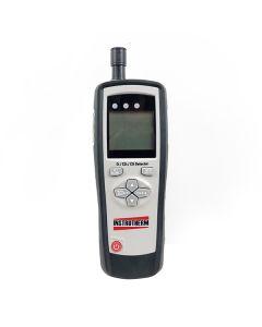 Detector De 3 Gases Mod. DG-300, Detecção De Oxigênio, Monóxido De Carbono E Dióxido De Carbono, Bateria Recarregável