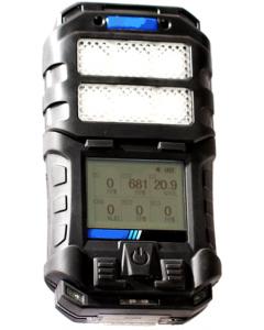 Detector de 6 gases mod. DG-550, detecção de oxigênio, monóxido de carbono, gases combustíveis, sulfeto de hidrogênio, dióxido de carbono, amônia, bateria recarregável