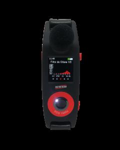 Dosímetro de ruído mod. DOS-1000X digital c/ faixa de medição 35 a 140 dB, memória p/ 680 horas de medição, 50 eventos, luzes espias, microfone MEMS, c/ filtro de banda, tela de OLED, tecnologia Wheel, acompanha CERTIF. DE CALIBRAÇÃO RBC (ANSI S1.25)