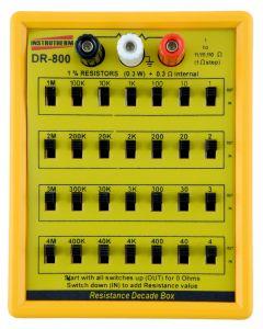 Década resistiva mod. DR-800, faixa de medição de 1 a 11111110 ohms