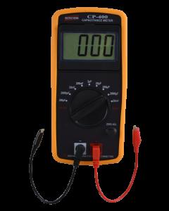Capacímetro mod. CP-400 digital portátil, escala de 200pF a 20mF Com Tela Reclinável