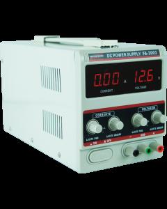 Fonte de Alimentação Mod. FA-3003 Digital de 1 canal, tensão até 32 volts, corrente até 3 Ampéres