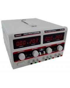Fonte de Alimentação Mod. FA-3050 Simétrica Digital de 2 canais, tensão até 64 Volts (modo série), corrente até 10 Ampéres (modo paralelo) e 1 saída fixa de 5V/3A