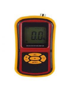 Medidor de umidade digital portátil para grãos mod. MUG-650 com seleção de tipo de grão, nível de alarme configurável e ajuste para luz de fundo.