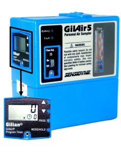 Bomba de amostragem programável mod. GILAIR-5 para poeira e gases com display, ajuste de tempo programável e intrinsecamente seguro