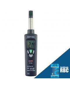 Termo-Higrômetro Digital Portátil, Temperatura -20 a 70C, Umidade 0 a 100% U.R., Mod HT-260