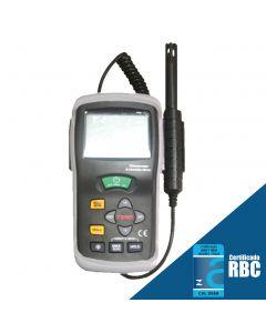 Termo-Higrômetro Digital, Temperatura -20 a 60C, Umidade 10 a 95% U.R., Ponto de Orvalho -30 a 100C, Mod. HT-350