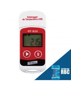 Datalogger mod. HT-810 temperatura, interface USB, armazenamento de 32000 dados