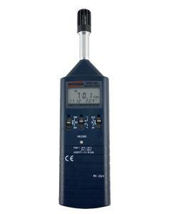 Termo-higrômetro digital portátil, temperatura -20 a 60c, Umidade 10 a 95% U.R. com ponto de orvalho, interface RS-232 e datalogger mod. HTR-157
