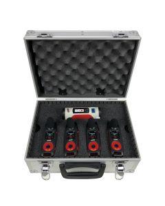 Kit com 4 Dosímetros de Ruído com Filtro de Banda + Calibrador Acústico Classe 1 + Maleta Mod. MA-810 e Certificados RBC