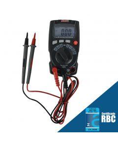 Multímetro digital mod. MD-700 portátil, True RMS, CATIII-600V, CATII-1000V, Escala automática