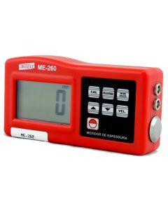 Medidor de Espessura de Chapa Ultrassônico Mod. ME-260 para materiais diversos e velocidade do som ajustável