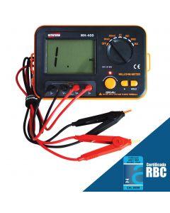 Miliohmmímetro Digital portátil mod.MH-400 para resistência 3½ dígitos - Escala: 20mΩ~2kΩ