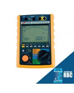 Megôhmetro Digital Portatil faixa 5000V e 1,2 Tohms mod. MI-600