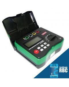 Terrômetro Digital Portátil, escala de resistencia e resistividade, 4 estacas Mod.MRT-1000