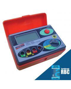 Medidor de Resistência de Aterramento Digital mod. MRT-300 - CATII 300 V/CATIII 150 V, 0 ~ 2000 ohms, Tensão de aterramento 0 ~ 30 Volts.