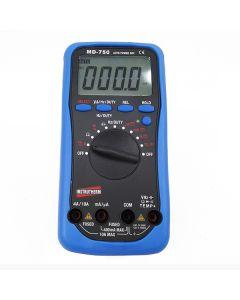 Multímetro Digital Portátil Tensão AC / DC, Corrente AC / DC, Escala Automática, CAT III 600 V e CAT II 1000 V, Display 3 ¾ Dígitos, 4000 Contagens Mod. MD-750