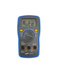 Multímetro Digital Portátil True RMS Mod. MD-610 com Medição Inteligente de Tensão, Resistência e Continuidade, CAT II–600V, Detecção De Tensão sem Contato (NCV), Temperatura. Frequência (Rede e Lógica), Duty Cicle e Capacitância