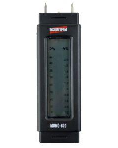 Medidor de Umidade mod.MUMC-620 para madeira (escala: 6-44%), papelão, papel, concreto, reboco (escala: 0,2-2%)