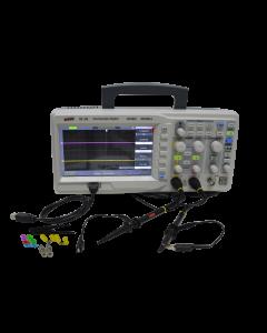 Osciloscópio Digital USB 2 canais 200Mhz 32 Kpts, Taxa de amostragem: 500MSa/s mod.OD-285