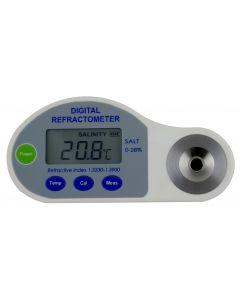 Refratômetro Digital Portátil e Bancada para salinidade Escala 0-28% Brix Mod. RTDS-28