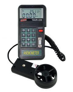 Termo-Anemômetro Mod. TAVR-650 Digital Mede Velocidade/ Temp/Área/Vazão C/ RS-232