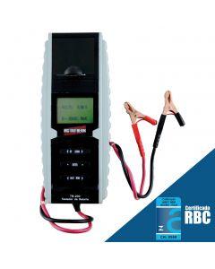 Analisador de bateria mod. TB-200, com impressora integrada, medição de condutância da bateria, medição de sistemas elétricos