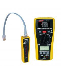 Testador de Cabos de Rede, Telefonia e Multímetro AC/DC mod.TC-280 - Marca: Instrutherm