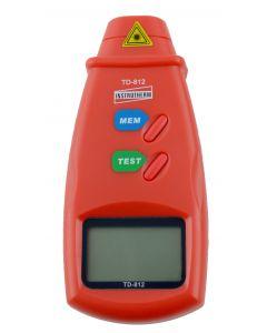Tacômetro Mod. TD-812 Digital Portátil Óptico com Mira Laser faixa 2,5 a 99999 RPM