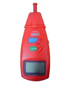 Tacômetro mod. TD-813 digital portátil faixa contato 0,5 a 19999 e optico 1,5 a 99999 RPM