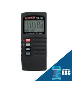 Termômetro Digital Portátil Tipo K e J c/ Saída RS-232 e Datalogger Mod TH-095