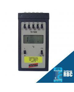 Termômetro Digital Portátil Escala -40 a 1000C com 5 Pontos de Medição Mod. TH-1000