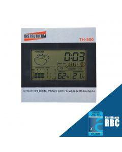 Termo-Higrômetro Digital Portátil,Umidade, Tendencia de Temperatura, Previsão Metereologica, Nivel Conforto Termico, Relogio Mod. TH-500